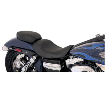 Mustang Wide Tripper Forward Solo Seat for 2006-2017 Harley Dyna - Black