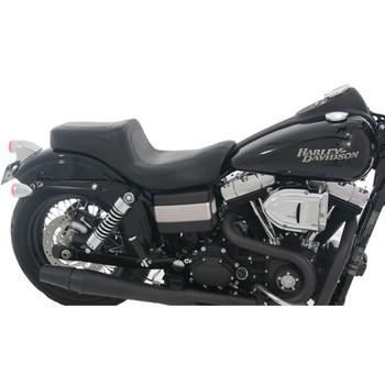 Mustang Squareback Seat for 2006-2017 Harley Dyna - Black