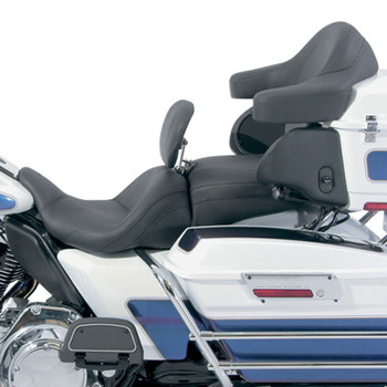 Mustang Lowdown Touring Seat w/ Driver Backrest for 2008-2020 Harley Touring - Original