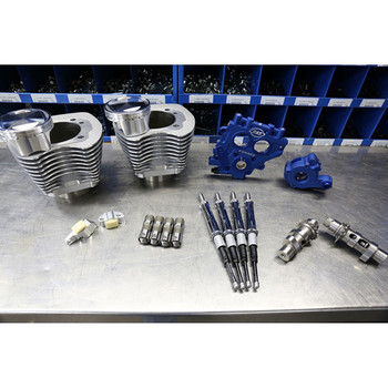 "S&S 100"" Power Package Kit Chain Drive for 1999-2006 Harley Twin Cam - Silver"