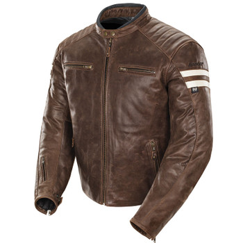 Joe Rocket Classic 92 Leather Jacket - Brown/Cream
