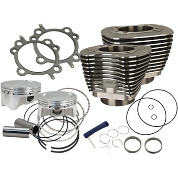 "S&S Sidewinder 4"" Big Bore Kit 100"" for 1999-2006 Harley Twin Cam - Black"