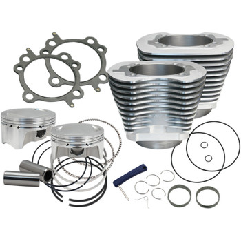 "S&S Sidewinder 4"" Big Bore Kit 110"" for 2007-2017 Harley Twin Cam - Silver"