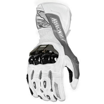 Joe Rocket Flexium TX Gloves - White/Gunmetal