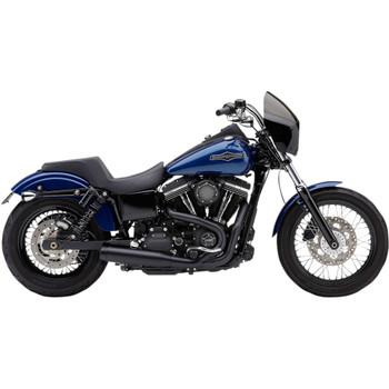 """Cobra El Diablo 3.5"""" 2-Into-1 Exhaust for 2012-2017 Harley Dyna - Black"""