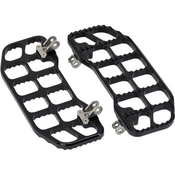 Joker Machine Serrated Floorboards for Harley - Black