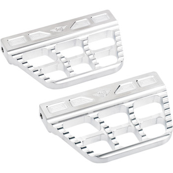 Joker Machine Serrated Passenger Floorboards for Harley - Raw