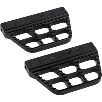 Joker Machine Serrated Passenger Floorboards for Harley - Black