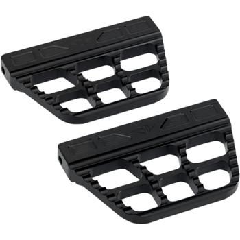Joker Machine Serrated Passenger Floorboards for Harley - Black