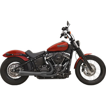 Bassani Road Rage 2-Into-1 Exhaust for 2018-2020 Harley FXBB/FXLR/FLSL/FXFB - Black