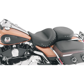Mustang Standard Touring Seat for 2008-2018 Harley Touring - Chrome Studded