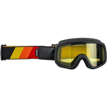 Biltwell Overland 2.0 Tri-Stripe Goggle - Black/Red/Yellow/Orange