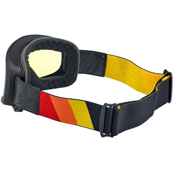 Biltwell Overland 2.0 Tri-Stripe Goggle - Black/Red/Yellow/Orange