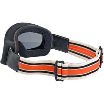 Biltwell Overland 2.0 Racer Goggle - Black/Cream/Orange