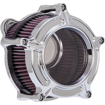 Roland Sands Clarion Air Cleaner for 1993-2017 Harley Big Twin Dual Cable - Chrome
