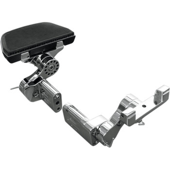 Rivco Adjustable Passenger Floorboard Mounts for Harley Touring - Chrome