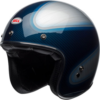 Bell Custom 500 Carbon - RSD Gloss Candy Blue Jager