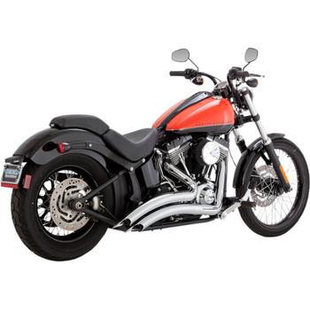 Vance & Hines Big Radius Exhaust for 1986-2017 Harley Softail - Chrome