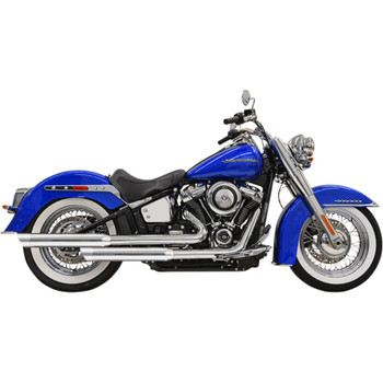 Bassani Staggered Exhaust for 2018-2020 Harley Softail Heritage and Deluxe - Chrome