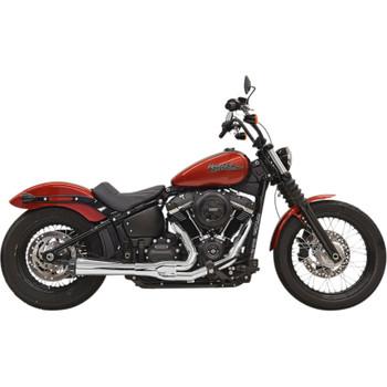 Bassani Road Rage 2-Into-1 Exhaust for 2018-2020 Harley FXBB/FXLR/FLSL/FXFB - Chrome
