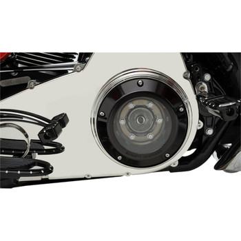 Barnett Scorpion Series Clear Derby Cover for 1999-2018 Harley* - Black
