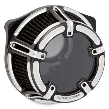 Arlen Ness Method Clear Series Air Cleaner for Harley Twin Cam Cable Throttle - Contrast