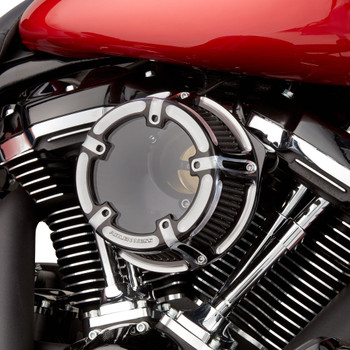 Arlen Ness Method Clear Series Air Cleaner for Harley Twin Cam Electronic Throttle - Contrast