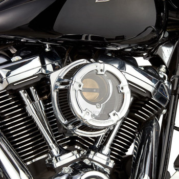 Arlen Ness Method Clear Series Air Cleaner for 2017-2020 Harley M8 - Chrome