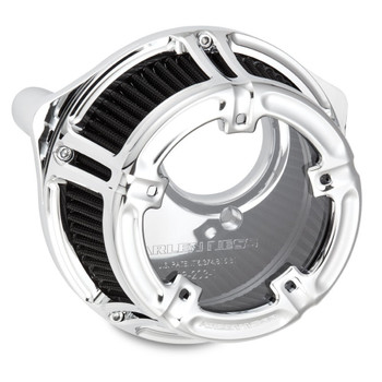Arlen Ness Method Clear Series Air Cleaner for Harley Twin Cam Cable Throttle - Chrome