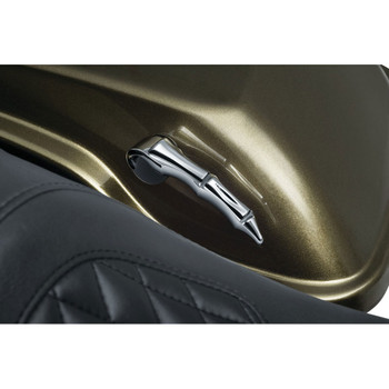 Kuryakyn Zombie Saddlebag Latch Handles for 2014-2018 Harley Touring - Chrome