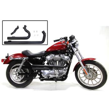 V-Twin Mfg. Shotgun Style Exhaust for 2004-2018 Harley Sportster - Black