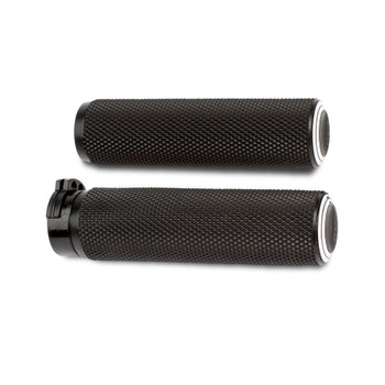 Arlen Ness Dual Ring Grips for Harley Dual Cable - Black