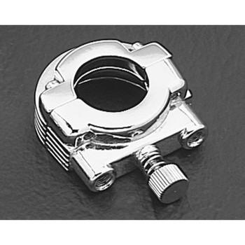 Dual Cable Throttle Clamp - Chrome