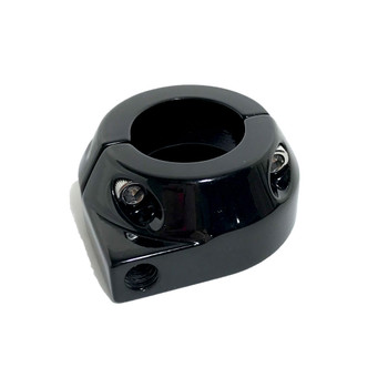 Custom Single Cable Throttle Clamp - Black