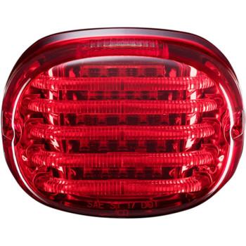Custom Dynamics Probeam Squareback LED Tail Light for Harley - Red