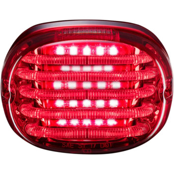 Custom Dynamics Probeam Squareback LED Tail Light for Harley - Red