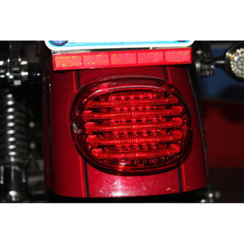 Custom Dynamics Probeam Low Profile LED Tail Light for Harley - Red