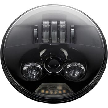 "Custom Dynamics 7"" Probeam LED Headlight for Harley - True Black"