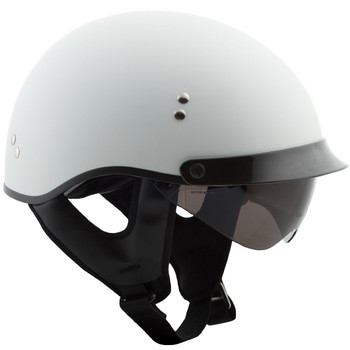 GMAX GM65 Full Dressed Half Helmet - Matte White