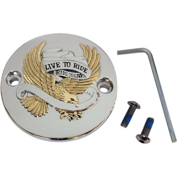 Drag Specialties Live to Ride Points Cover for Harley Milwaukee 8 - Gold
