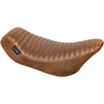 Le Pera Streaker Seat for 2008-2018 Harley Touring - Brown Pleated