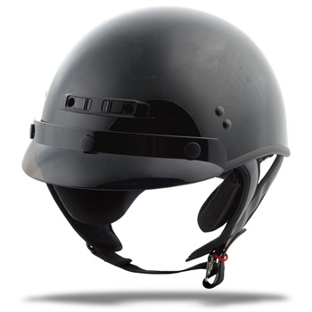 GMAX GM35 Full Dressed Half Helmet - Gloss Black