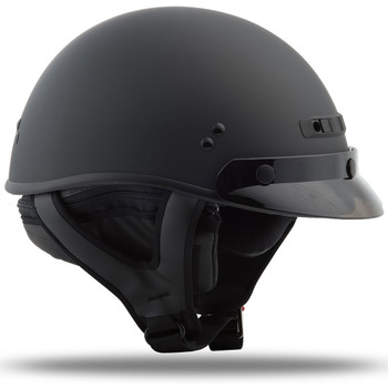 GMAX GM35 Solid Full Dressed Half Helmet - Matte Black