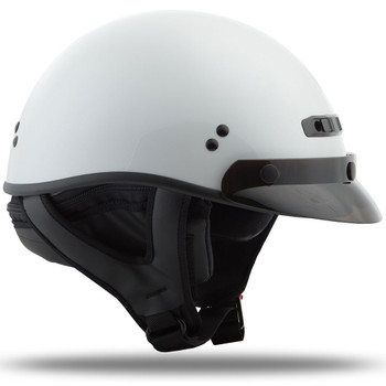 GMAX GM35 Solid Full Dressed Half Helmet - Pearl White