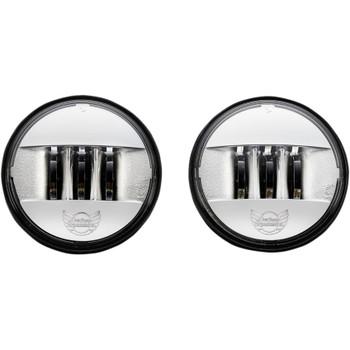 """Custom Dynamics 4.5"""" Probeam LED Passing Lamps for Harley - Chrome"""