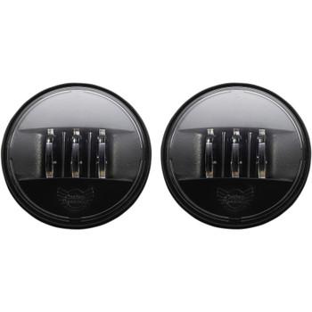 "Custom Dynamics 4.5"" Probeam LED Passing Lamps for Harley - True Black"