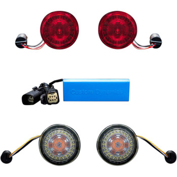 Custom Dynamics Probeam TSSM LED Turn Signal Conversion Kit for Harley*