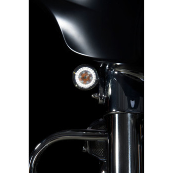 Custom Dynamics Probeam Amber/White Dynamic Ringz with Smoked Lens for Harley