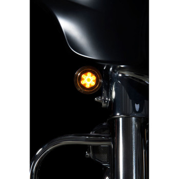 Custom Dynamics Probeam CVO Amber/White Dynamic Ringz with Smoked Lens for Harley