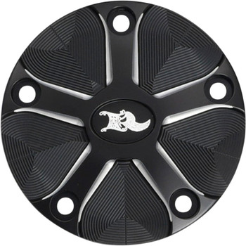 Ken's Factory Five-Spoke Points Cover for Harley Milwaukee 8 - Black Machine